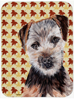 Norfolk Terrier Puppy Fall Leaves Mouse Pad, Hot Pad or Trivet
