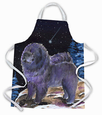 Carolines Treasures  SS8456APRON Starry Night Chow Chow Apron