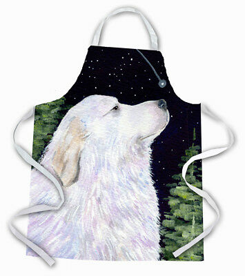 Carolines Treasures  SS8470APRON Starry Night Great Pyrenees Apron
