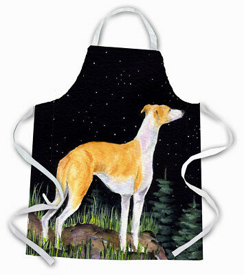 Carolines Treasures  SS8492APRON Starry Night Whippet Apron
