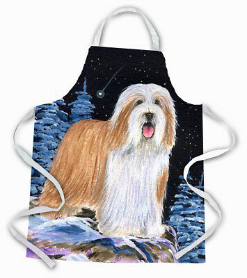 Carolines Treasures  SS8451APRON Starry Night Bearded Collie Apron