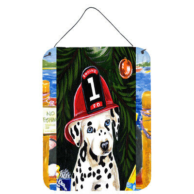 Fire Fighter Christmas Dalmatian Wall or Door Hanging Prints