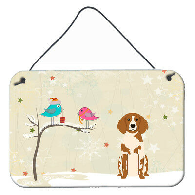Christmas Presents between Friends Brittany Spaniel Wall or Door Hanging Prints