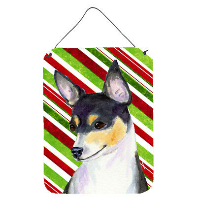 Chihuahua Candy Cane Holiday Christmas Wall or Door Hanging Prints