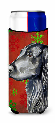 Flat Coated Retriever Red  Green Snowflakes Holiday Christmas Ultra Beverage Ins