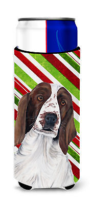Welsh Springer Spaniel Candy Cane Holiday Christmas Ultra Beverage Insulators fo