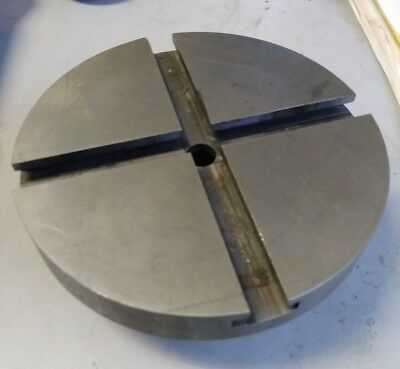 "HARDINGE T-SLOTTED FIXTURE LATHE CHUCK PLATE 5"" DIA C24D w/ 2-3/16"" THREADED"