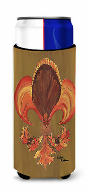 Thanksgiving Turkey and Fall Leaves Fleur de lis Ultra Beverage Insulators for s
