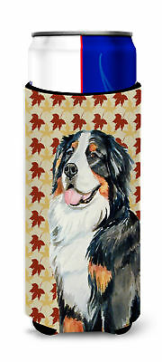 Bernese Mountain Dog Fall Leaves Portrait Ultra Beverage Insulators for slim can