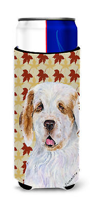 Clumber Spaniel Fall Leaves Portrait Ultra Beverage Insulators for slim cans