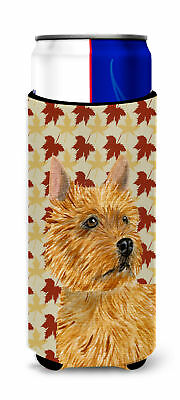 Norwich Terrier Fall Leaves Portrait Ultra Beverage Insulators for slim cans