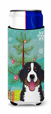 Christmas Tree and Bernese Mountain Dog Ultra Beverage Insulators for slim cans