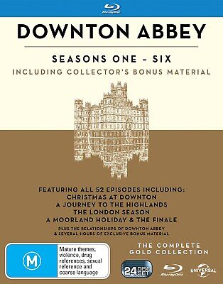 Downton Abbey The Complete Collection Blu-ray Region B NEW