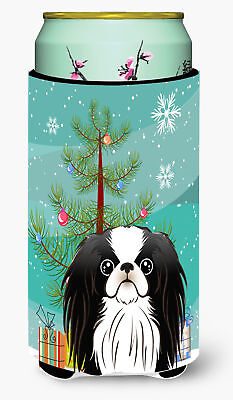 Christmas Tree and Japanese Chin Tall Boy Beverage Insulator Hugger