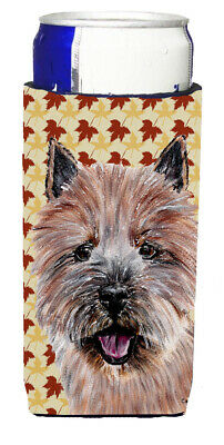 Norwich Terrier Fall Leaves Ultra Beverage Insulators for slim cans
