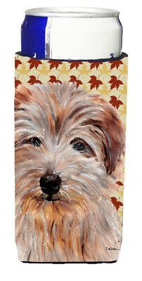 Norfolk Terrier Fall Leaves Ultra Beverage Insulators for slim cans