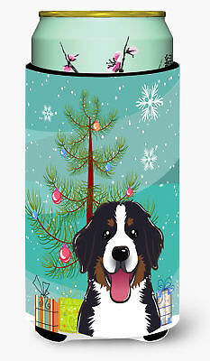 Christmas Tree and Bernese Mountain Dog Tall Boy Beverage Insulator Hugger