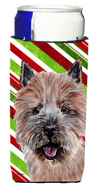 Norwich Terrier Candy Cane Christmas Ultra Beverage Insulators for slim cans