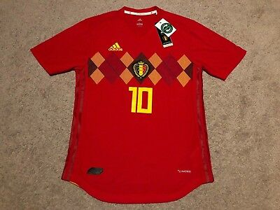 557315c69 Adidas Belgium 2018 Home Russia World Cup Jersey  10 Hazard Sz L ClimaChill  NWT