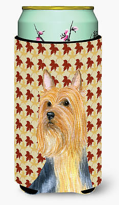 Silky Terrier Fall Leaves Portrait  Tall Boy Beverage Insulator Beverage Insulat