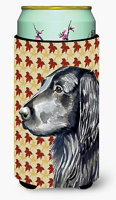 Flat Coated Retriever Fall Leaves Portrait  Tall Boy Beverage Insulator Beverage