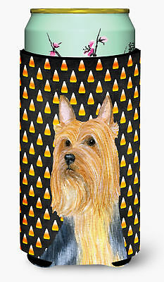 Silky Terrier Candy Corn Halloween Portrait  Tall Boy Beverage Insulator Beverag