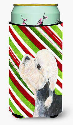 Dandie Dinmont Terrier Candy Cane Holiday Christmas  Tall Boy Beverage Insulator