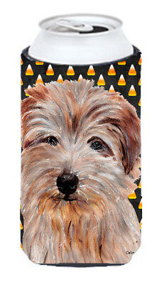 Norfolk Terrier Candy Corn Halloween Tall Boy Beverage Insulator Hugger