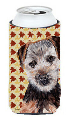 Norfolk Terrier Puppy Fall Leaves Tall Boy Beverage Insulator Hugger