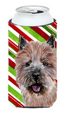 Norwich Terrier Candy Cane Christmas Tall Boy Beverage Insulator Hugger