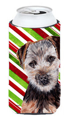 Norfolk Terrier Puppy Candy Cane Christmas Tall Boy Beverage Insulator Hugger