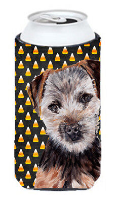 Norfolk Terrier Puppy Candy Corn Halloween Tall Boy Beverage Insulator Hugger