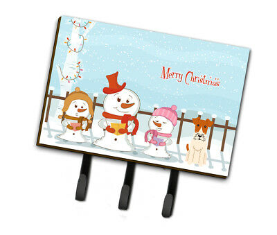 Merry Christmas Carolers Wire Fox Terrier Leash or Key Holder