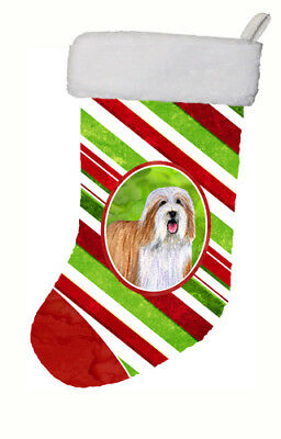 Bearded Collie Candy Cane Holiday Christmas Christmas Stocking LH9240