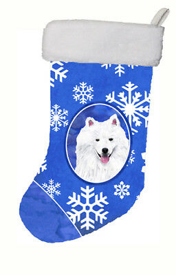 Carolines Treasures  SC9379-CS American Eskimo Winter Snowflakes Christmas Stock
