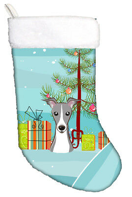Christmas Tree and Italian Greyhound Christmas Stocking