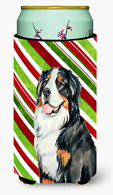 Bernese Mountain Dog Candy Cane Holiday Christmas  Tall Boy Beverage Insulator B
