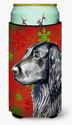 Flat Coated Retriever  Snowflakes Holiday Christmas  Tall Boy Beverage Insulator