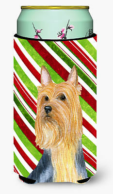 Silky Terrier Candy Cane Holiday Christmas  Tall Boy Beverage Insulator Beverage
