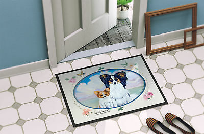 Carolines Treasures  7243MAT Papillon Indoor Outdoor Mat 18x27 Doormat