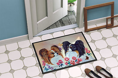 Carolines Treasures  7272MAT Papillon Indoor Outdoor Mat 18x27 Doormat