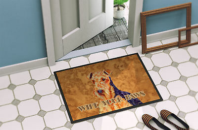 Airedale Wipe your Paws Indoor or Outdoor Mat 18x27