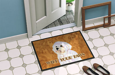 Puppy Cut Maltese Wipe your Paws Indoor or Outdoor Mat 18x27
