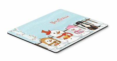 Merry Christmas Carolers Greater Swiss Mountain Dog Mouse Pad, Hot Pad or Trivet