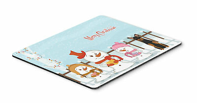 Merry Christmas Carolers Manchester Terrier Mouse Pad, Hot Pad or Trivet