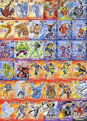 Topps MARVEL LEGENDS Full 72 Card Base Set (2001) RARE | Super Hero Comics Art