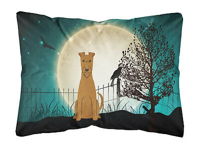 Halloween Scary Irish Terrier Canvas Fabric Decorative Pillow