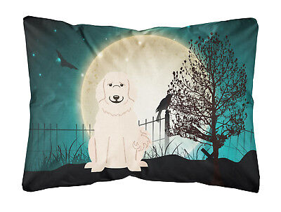 Halloween Scary Great Pyrenese Canvas Fabric Decorative Pillow