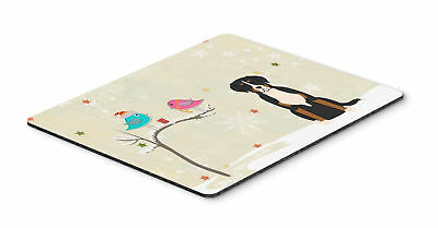 Christmas Presents between Friends Greater Swiss Mountain Dog Mouse Pad, Hot Pad