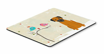 Christmas Presents between Friends Border Terrier Mouse Pad, Hot Pad or Trivet
